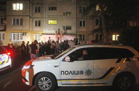 На месте убийства журналиста Аркадия Бабченко.