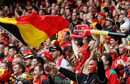 Болельщики из Бельгии.