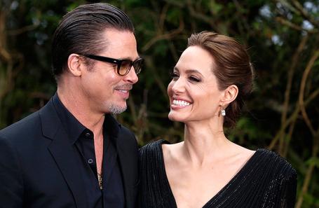 Анджелина Джоли и Брэд Питт.