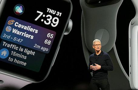 Тим Кук на конференции Apple в Сан-Хосе.