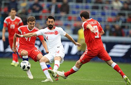 Товарищеский матч по футболу между сборными России и Турции.