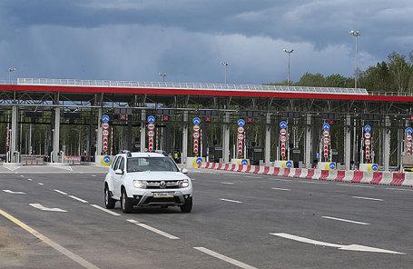 Открытие шестого участка платной трассы М11 «Москва - Санкт-Петербург» в Новгородской области.