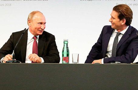 Владимир Путин и Себастьян Курц.