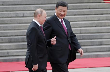Владимир Путин и Си Цзиньпин.