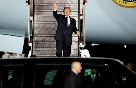 Дональд Трамп прибыл в Сингапур на встречу с Ким Чен Ыном