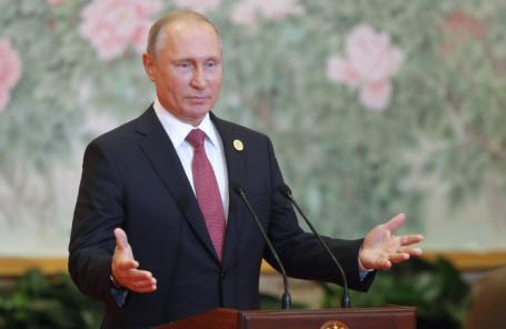 Президент РФ Владимир Путин во время пресс-конференции по итогам саммита Шанхайской организации сотрудничества