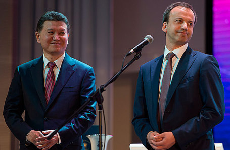 Кирсан Илюмжинов и Аркадий Дворкович (слева направо).