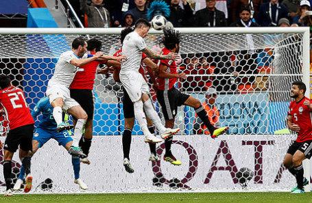 Матч Египет — Уругвай в рамках ЧМ-2018 в Екатеринбурге.