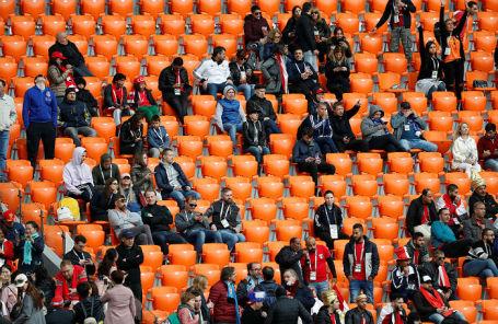 Пустые места на матче Египет — Уругвай на «Екатеринбург-Арене», 15 июня 2018 года.