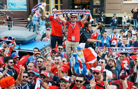 Болельщики сборной Коста-Рики в Самаре.