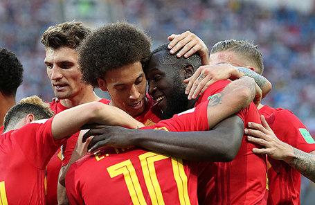 Игроки сборной Бельгии.