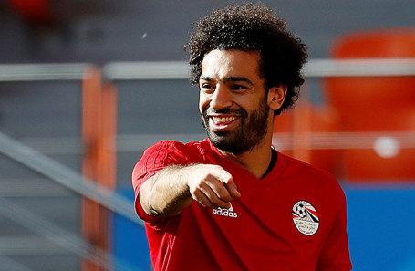 Игрок сборной Египта Мохаммед Салах.