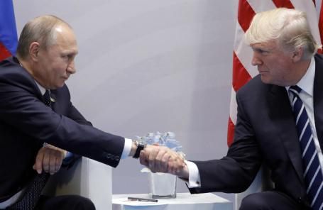 Трамп желает увидеться сПутиным тет-а-тет уже всередине лета