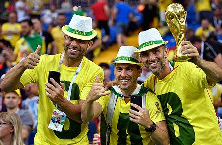Болельщики из Бразилии.