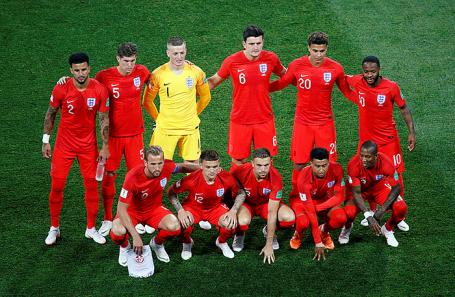 Игроки сборной Англии.