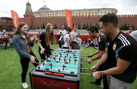 В Парке футбола на Красной площади.