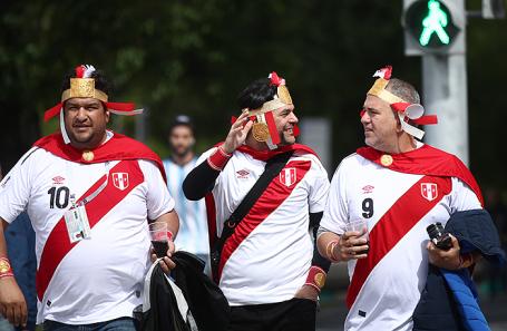 Болельщики из Перу.
