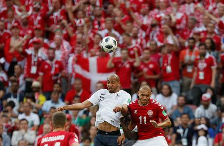 На матче Дания — Франция в «Лужниках», 26 июня 2018 года.