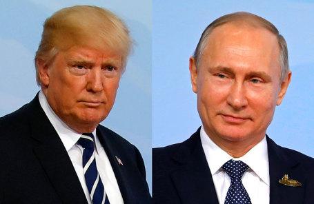 Президент США Дональд Трамп (слева) и президент РФ Владимир Путин.