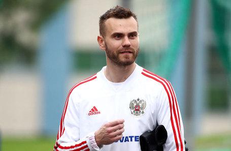 Вратарь сборной России по футболу Игорь Акинфеев.