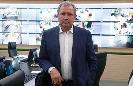 Руководитель Департамента здравоохранения Москвы Алексей Хрипун в ситуационном центре Департамента здравоохранения города Москвы.