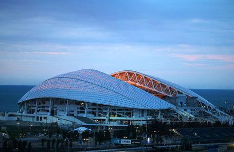 Вид на стадион «Фишт».