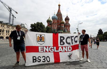 Атмосфера в Москве в преддверии полуфинала ЧМ по футболу