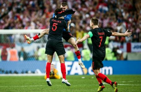 Игроки Хорватии после победы.