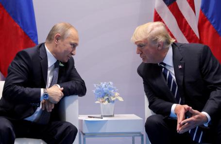 Владимир Путин и Дональд Трамп. Архив.
