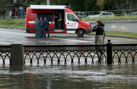 Последствия ливневых дождей в Москве.