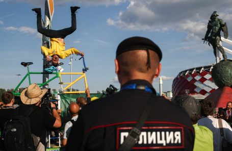 Болельщики в Москве во время ЧМ по футболу.