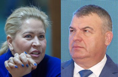 Евгения Васильева и Анатолий Сердюков.