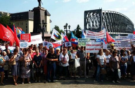 Митинг в Новосибирске, 17 июля 2018 года.