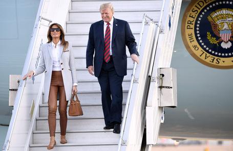 Мелания Трамп и Дональд Трамп.