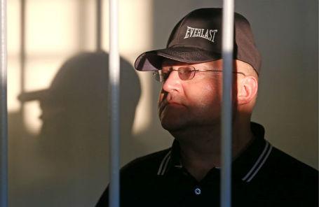Бывший руководитель Главного следственного управления Следственного комитета РФ по городу Москве Александр Дрыманов во время рассмотрения ходатайства следствия об его аресте в Лефортовском суде.