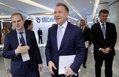 Игорь Шувалов (в центре) на Московском урбанистическом форуме.