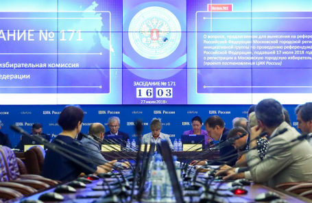 Рассмотрение ЦИК формулировки вопроса в заявке КПРФ о проведении референдума о внесении изменений в пенсионное законодательство РФ.