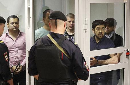 Вынесение приговора пятерым членам «банды GTA», обвиняемым в убийствах, в Мособлсуде.