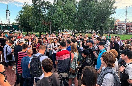 Митинг в Барнауле.