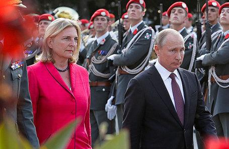 Владимир Путин и Карин Кнайсль.