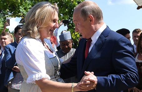 ВАвстрии поведали опоследствиях приезда Владимира Путина насвадьбу