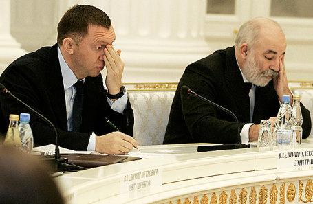 Олег Дерипаска и Виктор Вексельберг (слева направо).