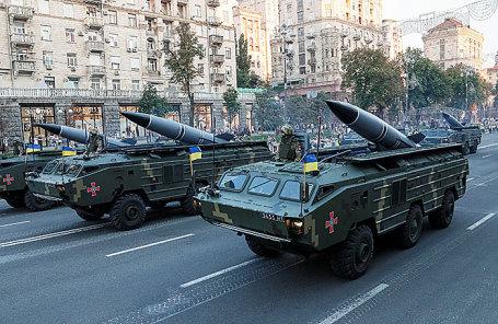 Репетиция военного парада в Киеве.