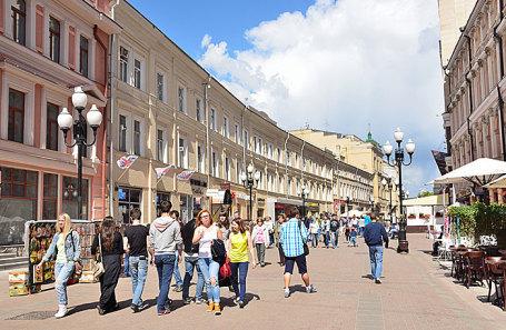Старый Арбат в Москве.