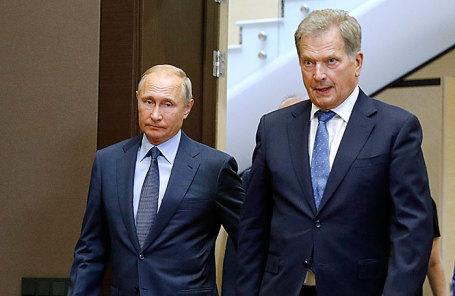 Владимир Путин и Саули Ниинисте.