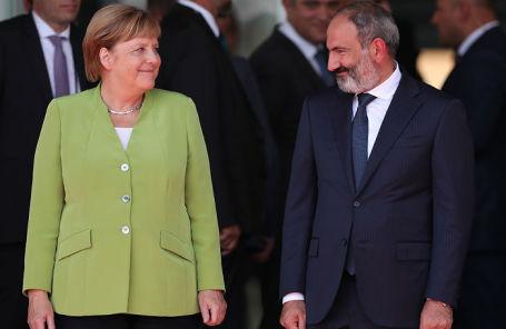 Канцлер Германии Ангела Меркель и премьер-министр Армении Никол Пашинян.