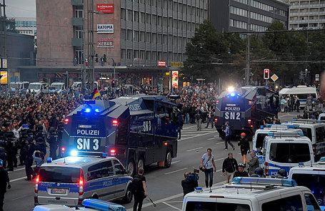 Ситуация в Хемнице, Германия.