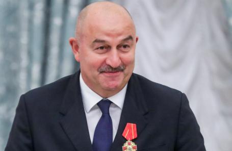 Главный тренер сборной России по футболу Станислав Черчесов,