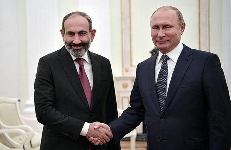Владимир Путин и Никол Пашинян.