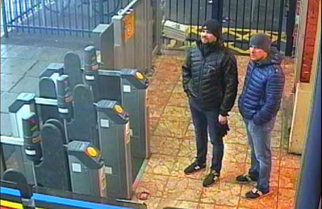Подозреваемые по делу Скрипалей Александр Петров и Руслан Боширов.